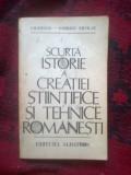 N4 Scurta Istorie A Creatiei Stiintifice Si Tehnice Romanesti - I.M. Stefan