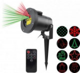 Cumpara ieftin Proiector laser pentru exterior, Well PROJ-LSR-RG8-WL, cu efecte de lumini miscatoare, 220 -240 V