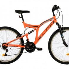 Bicicleta Mtb Kreativ 2641 Portocaliu Deschis M 26 inch, V-brake