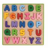 Puzzle colorat Alfabet, 26 piese, 2 - 6 ani, Bigjigs