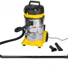 Aspirator Umed / Uscat Profesional Vacuum Cleaner, Capacitate 40L, Putere 1400W, Filtru Hepa, Argintiu / Galben