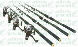 Set 4 lansete tele C A 3.6m cu 4 mulinete GP 540