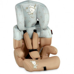 Scaun Auto Junior 9-36 kg 2018 Beige & Grey Indian Bear, 1-2-3 (9-36 kg)
