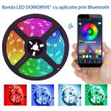 Banda LED RGBWhite 5050 inteligenta, cu aplicatie pe telefon, 95W, 5 metri