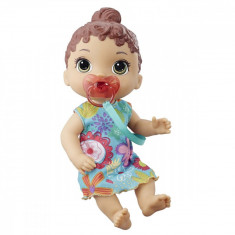 Papusa interactiva Baby Alive, Baby Lil Sounds Brown Hair