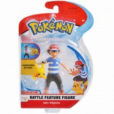 Figurina Pokemon Battle Feature, Ash si Pikachu