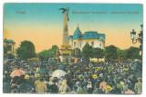 4881 - PLOIESTI, Market, Romania - old postcard - used - 1917