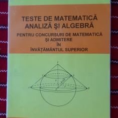 TESTE DE MATEMATICA ANALIZA SI ALGEBRA - LIVIU PARSAN ,EDITURA DE VEST .