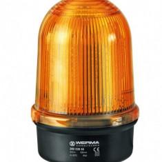 Girofar LED galben rezistent la vibratii - 24V - cu prinder