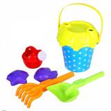 Galeata cu unelte pentru nisip, 6 buc, multicolor