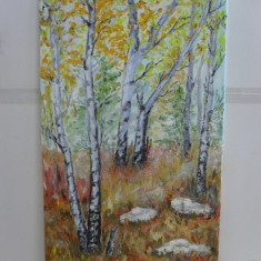 In padure 1-pictura ulei pe placaj, Arbori, Altul