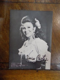 Viorica Cortez, fotografie cu semnatura olografa