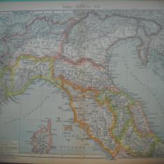 HOPCT DOCUMENT-HARTA VECHE NR 30 ITALIA DE NORD D=320/250 MM LEIPZIG 1918