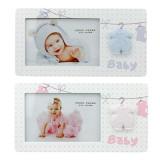 Cumpara ieftin Rama foto Leandrew 10x15, lemn, pentru bebelusi, salopeta in relief, ProCart