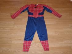 costum carnaval serbare spiderman pentru copii de 4-5-6 ani foto