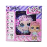 Cumpara ieftin Papusa LOL Surprise Glam Glitter cu 7 piese, diametru 10cm