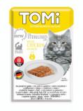 Cumpara ieftin Tomi Pisici Sterilizate cu Pui in aspic, 22 x plicuri 85 g