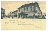 2114 - LUGOJ, market, stores, Litho, Romania - old postcard - used - 1904, Circulata, Printata