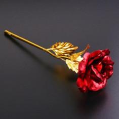 Trandafir poleit aur 24k Cadoul perfect pentru ziua indragostitilor!
