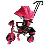 Tricicleta multifunctionala cu sunete si lumini Lux Trike Pink, Baby Mix