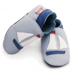 Pantofi cu talpa moale Liliputi Sailboat