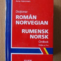 DICTIONAR ROMAN NORVEGIAN- ARNE HALVORSEN, cartonata, editia a II-a,25000cuvinte