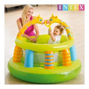 Loc de joaca gonflabil Intex, 130 x 104 cm, model girafa