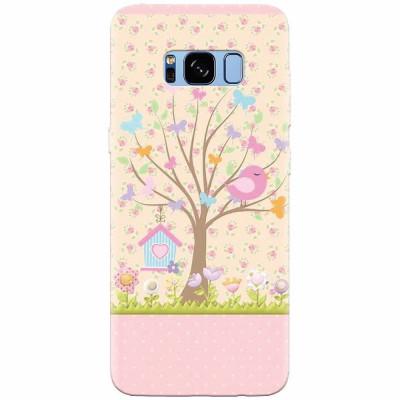 Husa silicon pentru Samsung S8, Cute Birdhouse foto