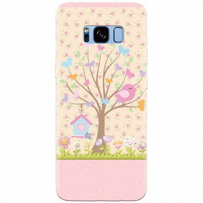 Husa silicon pentru Samsung S8, Cute Birdhouse