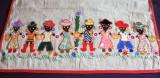 Tablou textil antirasist - artizanat romanesc dupa asasinatul Martin Luther King