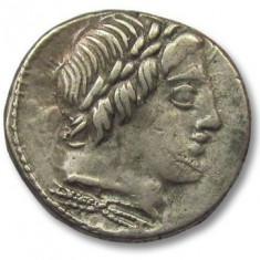 Republica Romana denarius argint.anonymous roma 86 B.C.