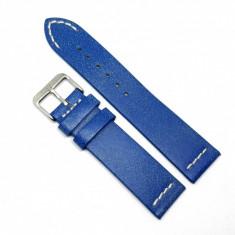 Cumpara ieftin Curea pentru ceas Albastra Vintage din piele naturala 18mm 20mm 22mm - C3250 H-vintage