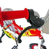 Bicicleta copii 16 Rich Baby R1602A cadru otel rosu galben si roti ajutatoare