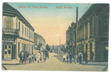2524 - TURNU-SEVERIN, Bank, street stores, Romania - old postcard - used - 1908