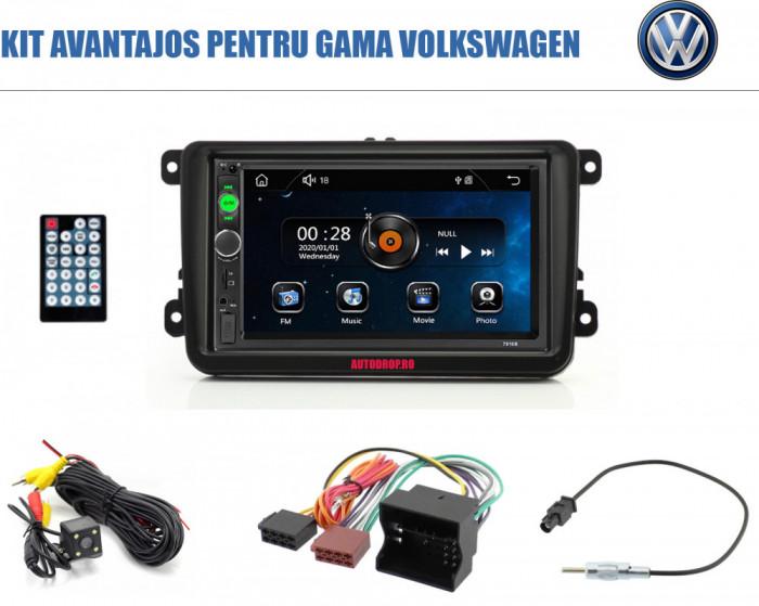 [KIT] MP5 Player pentru Volkswagen, WinCE, Bluetooth, USB, CardSD, Camera Marsarier, Auxiliar, Mirrorlink, Touchscreen, - AD-BGPVW7010B