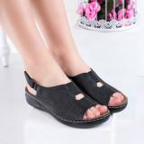 Sandale negre cu talpa ortopedica dama Acesa