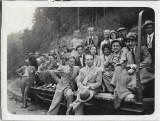B716 Tren CFR vagon defileu Ciucea angajati SAR de Telefoane anii 1930