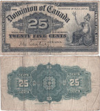 1900 (2 I), 25 cents (P-9a) - Canada