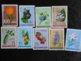 Serie timbre flora flori plante Iugoslavia nestampilate timbre filatelice