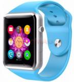 Smartwatch iUni A100i 1294-2, BT, LCD Capacitive touchscreen 1.54 Inch, Camera, Bratara Silicon, Functie telefon (Albastru)