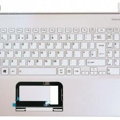 Carcasa superioara cu tastatura palmrest, Toshiba, Satellite L50-B, A000295780, alba uk