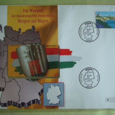 Cartela Telefonica + FDC Germania Bergen Auf Rugen - Exponat Numerotat
