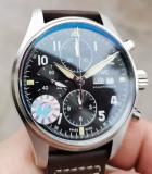 IWC Schaffhausen Pilot Spitfire Cronograf SWISS ETA Valjoux 7750, Mecanic-Automatic