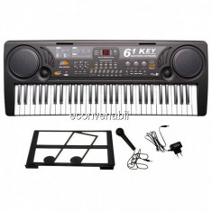 Orga electronica 61 Clape USB MP3 Microfon Suport MQ809USB