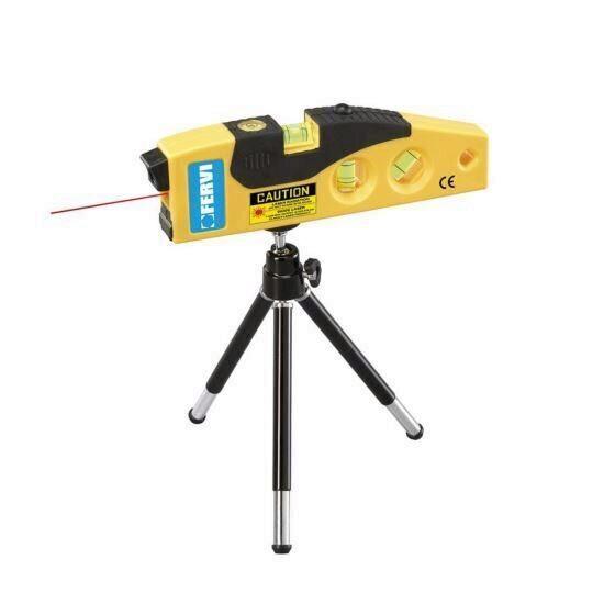 Mini nivela laser cu trepied, Fervi 0449, 4 bule de nivel Mania Tools