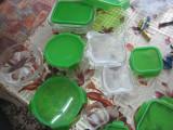 Set 9 caserole sticla termorezistenta,capac inchis in 4 puncte