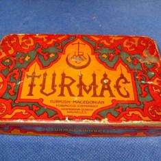 4310-Turkish Tutun Cutie veche metalica perioada interbelica.