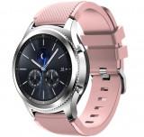 Curea ceas Smartwatch Samsung Gear S3, iUni 22 mm Silicon Soft Pink
