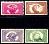 1946 LP186 serie Conferinta sindicala mondiala Paris MNH, Organizatii internationale, Nestampilat