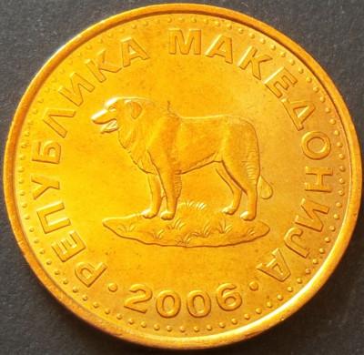 Moneda 1 DENAR - MACEDONIA, anul 2006   *cod 1371 - UNC foto